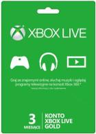 Abonament Xbox Live GOLD 3 miesiące, Xbox 360