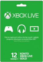 Abonament Xbox Live GOLD 12 miesięcy, Xbox 360