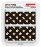 New 3DS Cover Plate Gold Stars N3DS