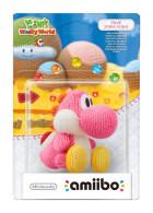 Figurka Amiibo Yoshis Woolly world Pink Yoshi Yarn Gadżety