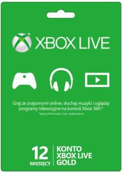 Abonament Xbox Live GOLD 12 miesięcy