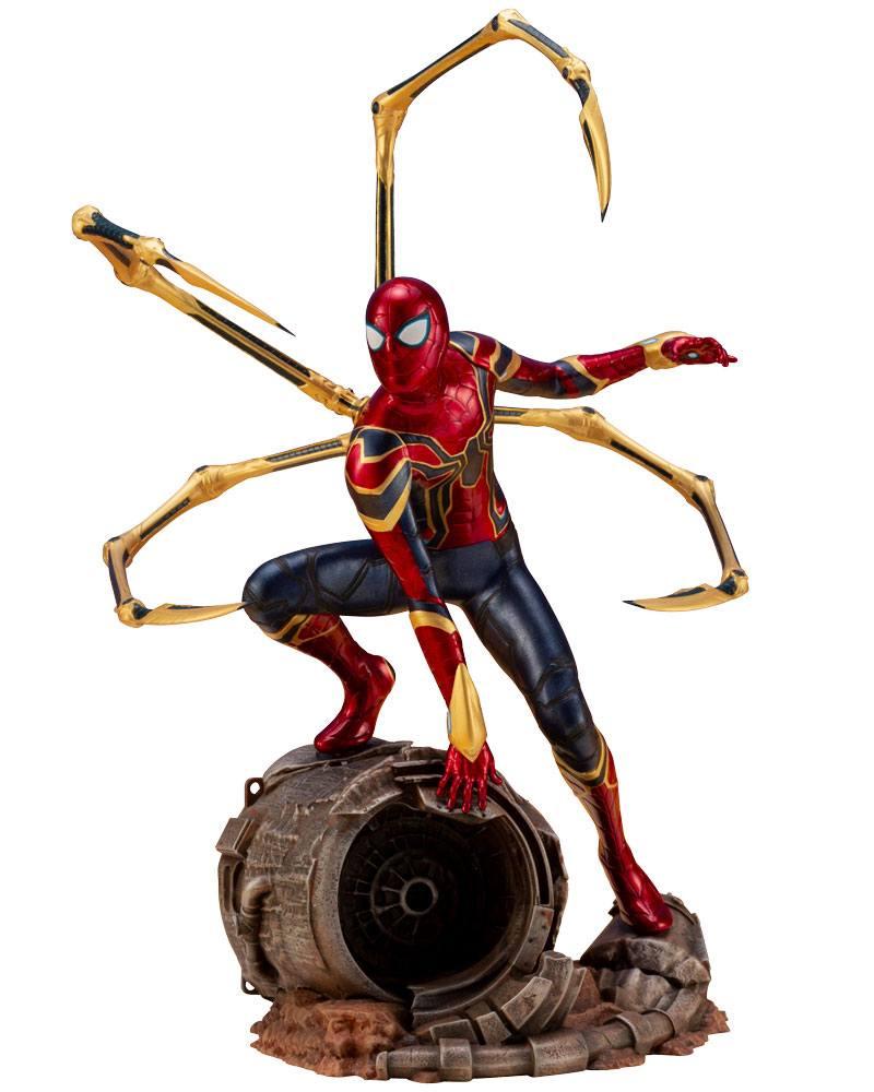 Avengers Infinity War Artfx Statua Pvc 110 Iron Spider 28 Cm