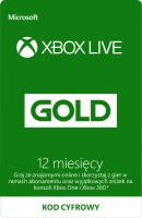 Abonament Xbox Live Gold 12 Miesięcy, Xbox One